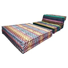 Le Mah Jong Modular Missoni Multi Color Lounge Chair Ottoman, Roche Bobois, 2015