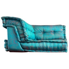 Le Mah Jong Modular Sofa Corner Lounge Chair Roche Bobois Gaultier Teal Silk