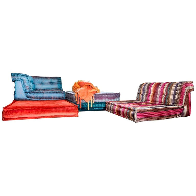 Wondrous Le Mah Jong Modular Sofa Hans Hopfer Roche Bobois Jean Paul Gaultier Silk Velvet Interior Design Ideas Tzicisoteloinfo