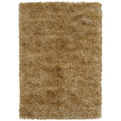 Le Materie Oro Thick Rug Vintage Gold Color by Deanna Comellini 170 x 240 cm