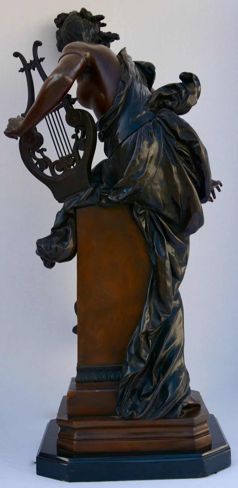 Le Melodie Bronze Statue by Albert-Ernest Carrier-Belleuse In Good Condition For Sale In Cookeville, TN