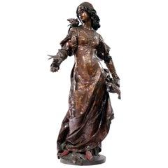 'Le Message des Oiseaux' a Bronze Figure by Henri Honoré Plé, circa 1880