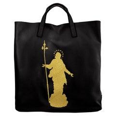 Le Moki black leather Madonna shopper bag