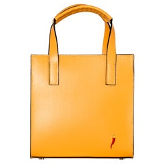Le Moki yellow leather shoulder bag / handle bag