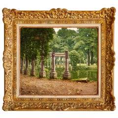 """""""Le Parc Monceau"""" by Henri Biva"""