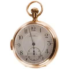 Le Phare 18 Karat Yellow Gold Minute Repeater Open Face Pocket Watch