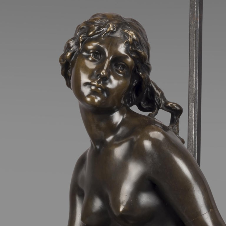 'Le Puits Qui Parle' an Exhibition Bronze, Paul Eugène Mengin French, circa 1900 For Sale 1