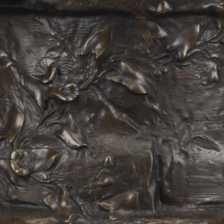 'Le Puits Qui Parle' an Exhibition Bronze, Paul Eugène Mengin French, circa 1900 For Sale 3