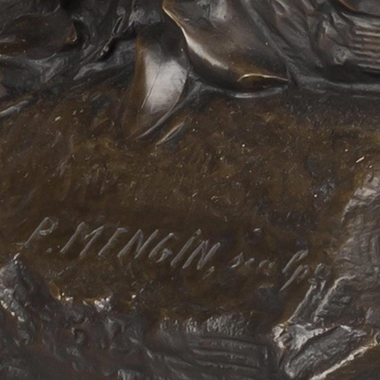 'Le Puits Qui Parle' an Exhibition Bronze, Paul Eugène Mengin French, circa 1900 For Sale 4
