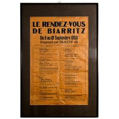 Le Rendez Vous De Biarritz French Poster
