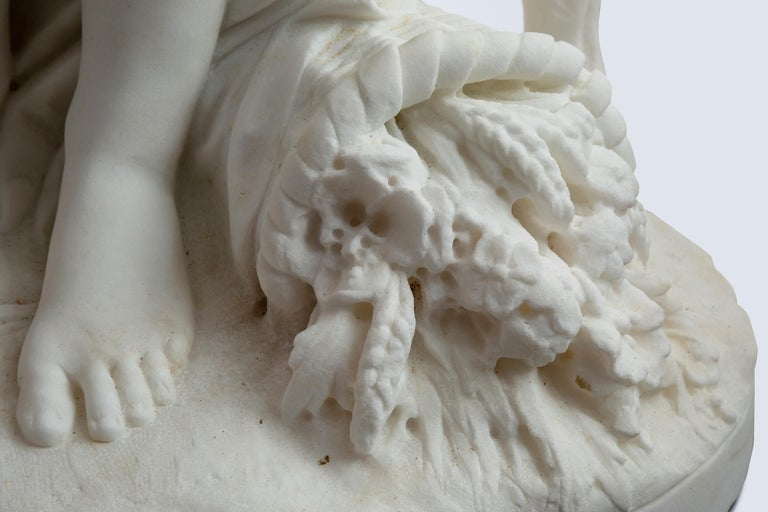 Le Retour des Champs 'Return from the Harvest' Carrara Marble, Signed and Dated For Sale 5