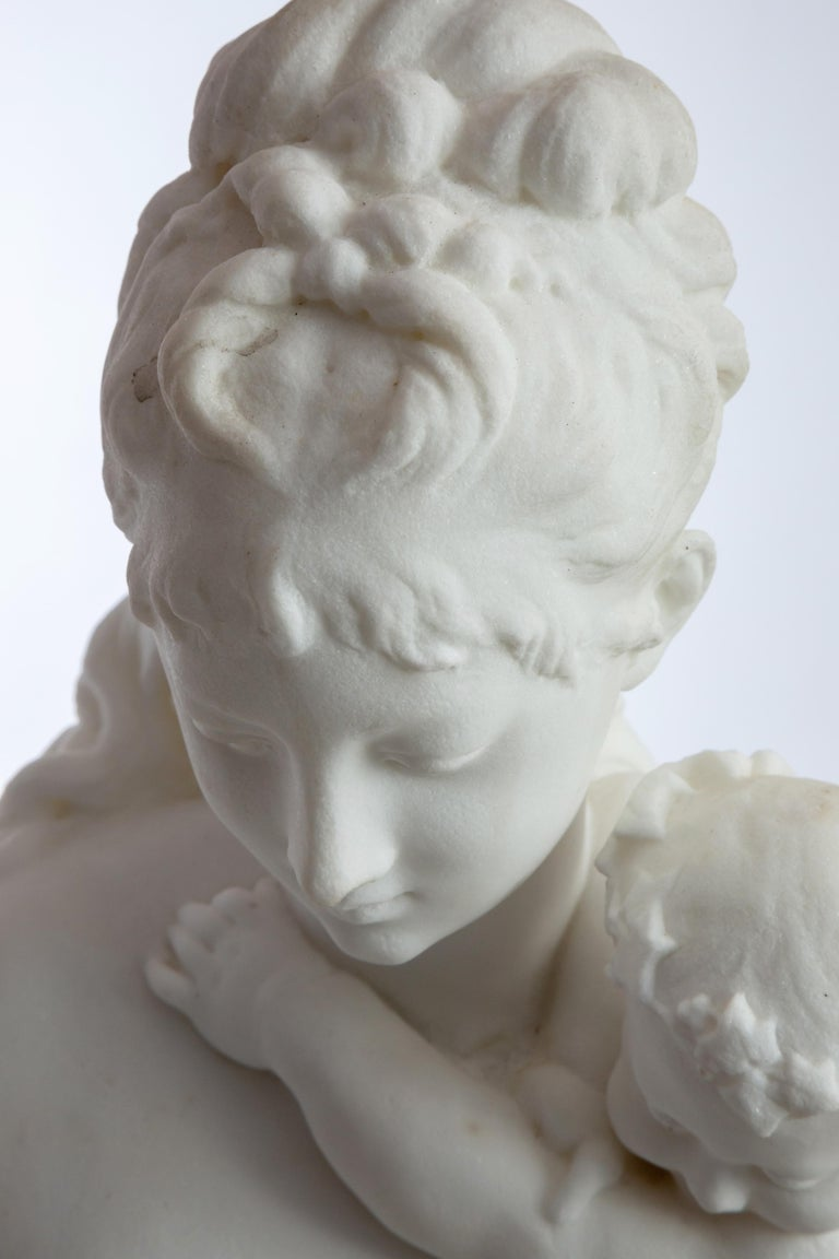 Le Retour des Champs 'Return from the Harvest' Carrara Marble, Signed and Dated For Sale 7