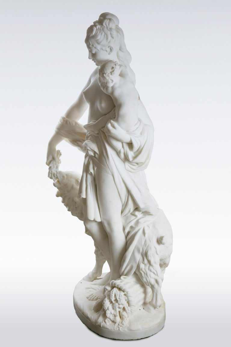 Le Retour des Champs 'Return from the Harvest' Carrara Marble, Signed and Dated For Sale 9