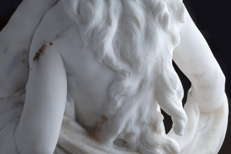 Le Retour des Champs 'Return from the Harvest' Carrara Marble, Signed and Dated For Sale 10