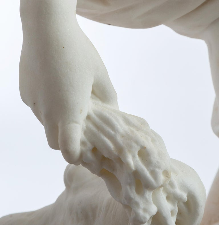 Le Retour des Champs 'Return from the Harvest' Carrara Marble, Signed and Dated For Sale 12