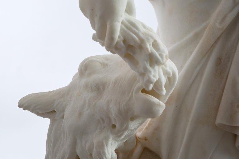 Le Retour des Champs 'Return from the Harvest' Carrara Marble, Signed and Dated In Good Condition For Sale In Katwijk aan Zee, NL