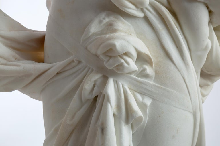 Le Retour des Champs 'Return from the Harvest' Carrara Marble, Signed and Dated For Sale 2