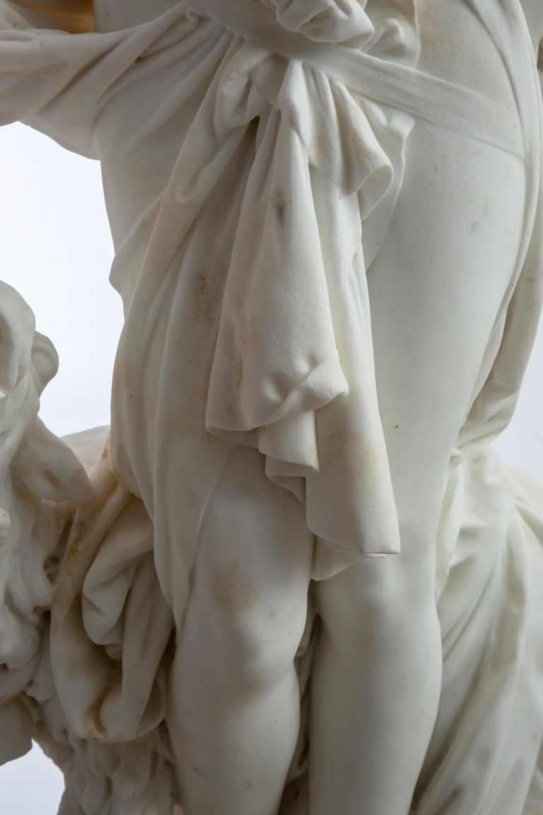 Le Retour des Champs 'Return from the Harvest' Carrara Marble, Signed and Dated For Sale 3