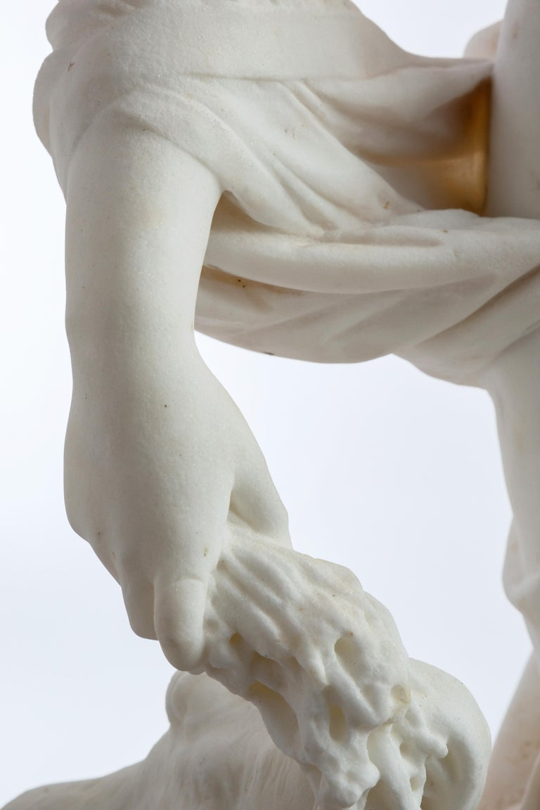 Le Retour des Champs 'Return from the Harvest' Carrara Marble, Signed and Dated For Sale 4