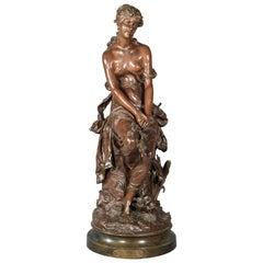 """""""Le Rêve"""" 'The dream', Bronze, Moreau, Hippolyte François, France"""