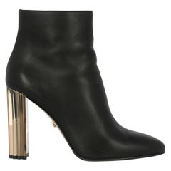 Le Silla Woman Ankle boots Black Leather IT 38