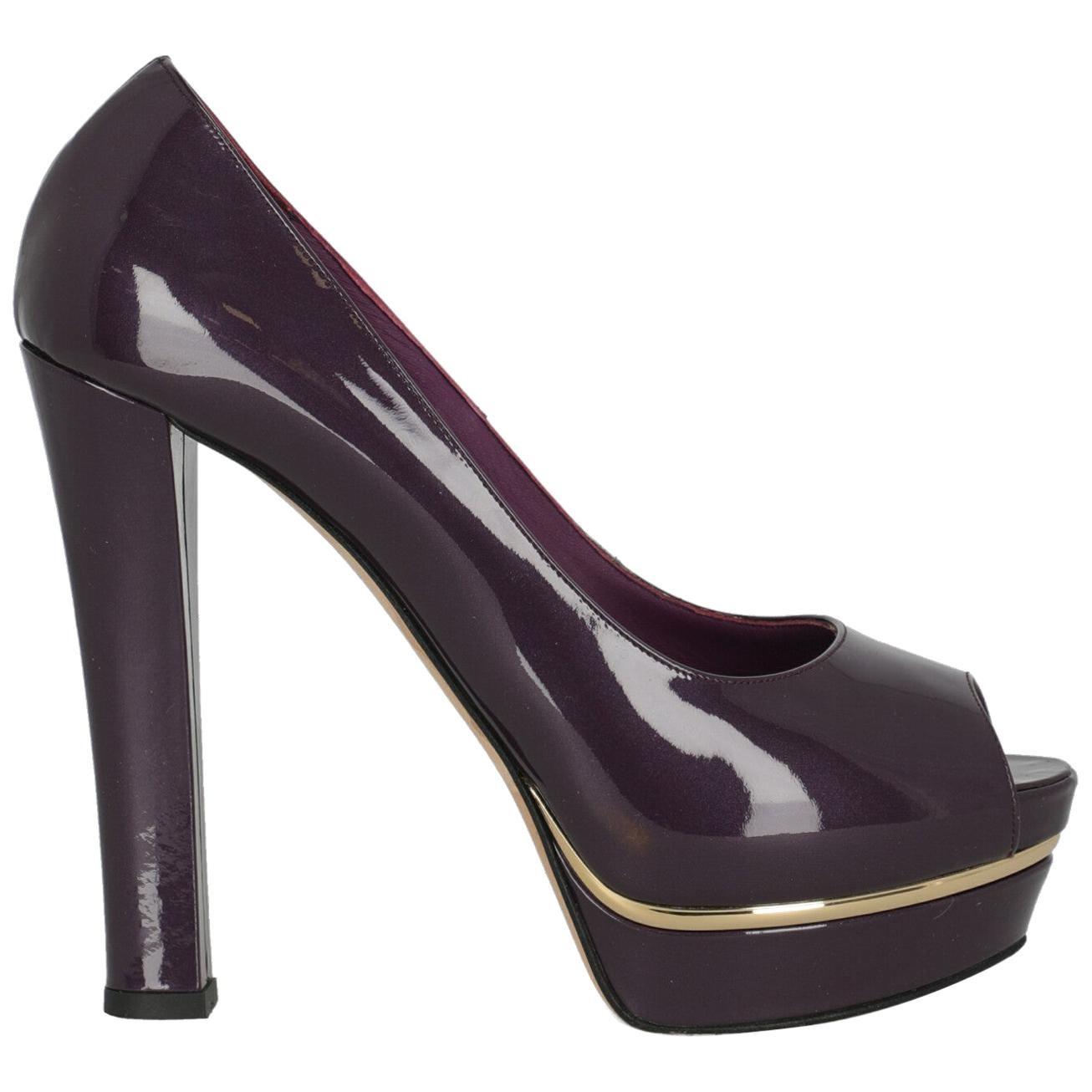 Le Silla Woman Pumps Purple Leather IT 39