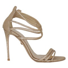 Le Silla Woman Sandals Gold Leather IT 40