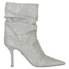 Le Silla  Women   Boots  Silver Leather EU 38
