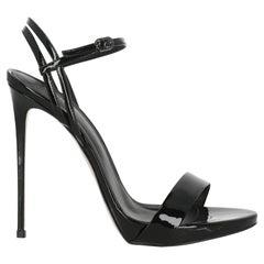 Le Silla Women  Sandals Black Leather IT 40.5