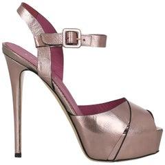 Le Silla Women  Sandals Purple Leather IT 37.5