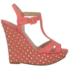 Le Silla Women  Wedges Pink Leather IT 36