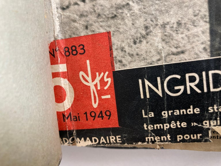 Le Soir Illustre, Mai 1949 to Sept 1949 French Magazines Paris France In Good Condition For Sale In North Hollywood, CA