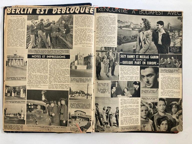 Paper Le Soir Illustre, Mai 1949 to Sept 1949 French Magazines Paris France For Sale