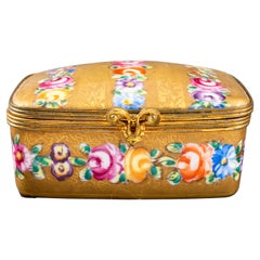 Le Tallec French Hand-Painted Porcelain Jewelry Box