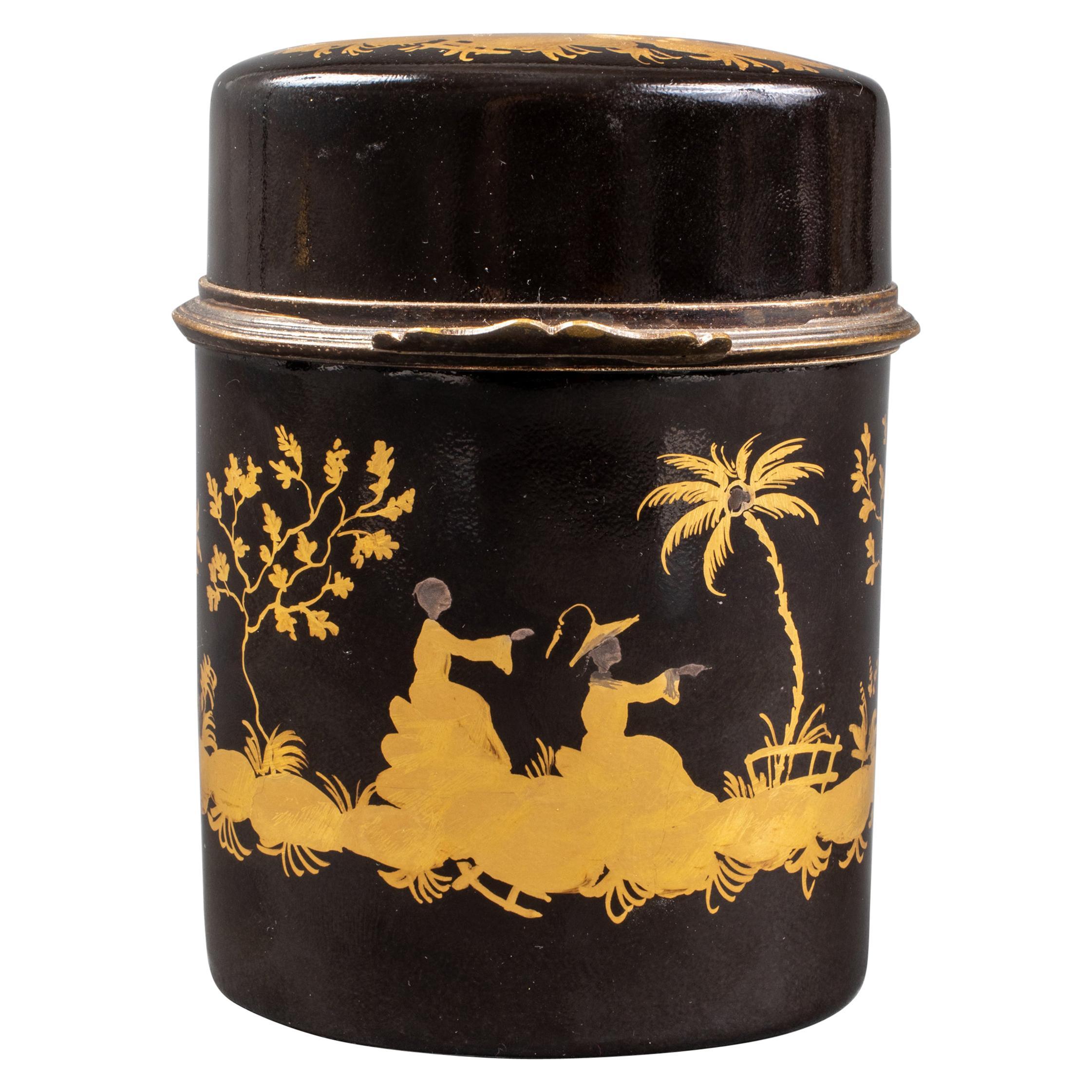 Le Tallec Paris Black Chinoiserie Porcelain Box