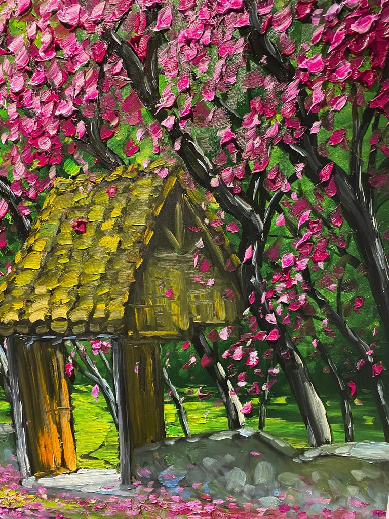 'Spring in Highlands' Colorful Impressionist Painting For Sale 2