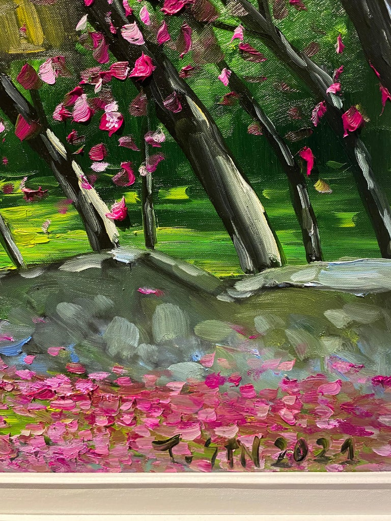 'Spring in Highlands' Colorful Impressionist Painting For Sale 3
