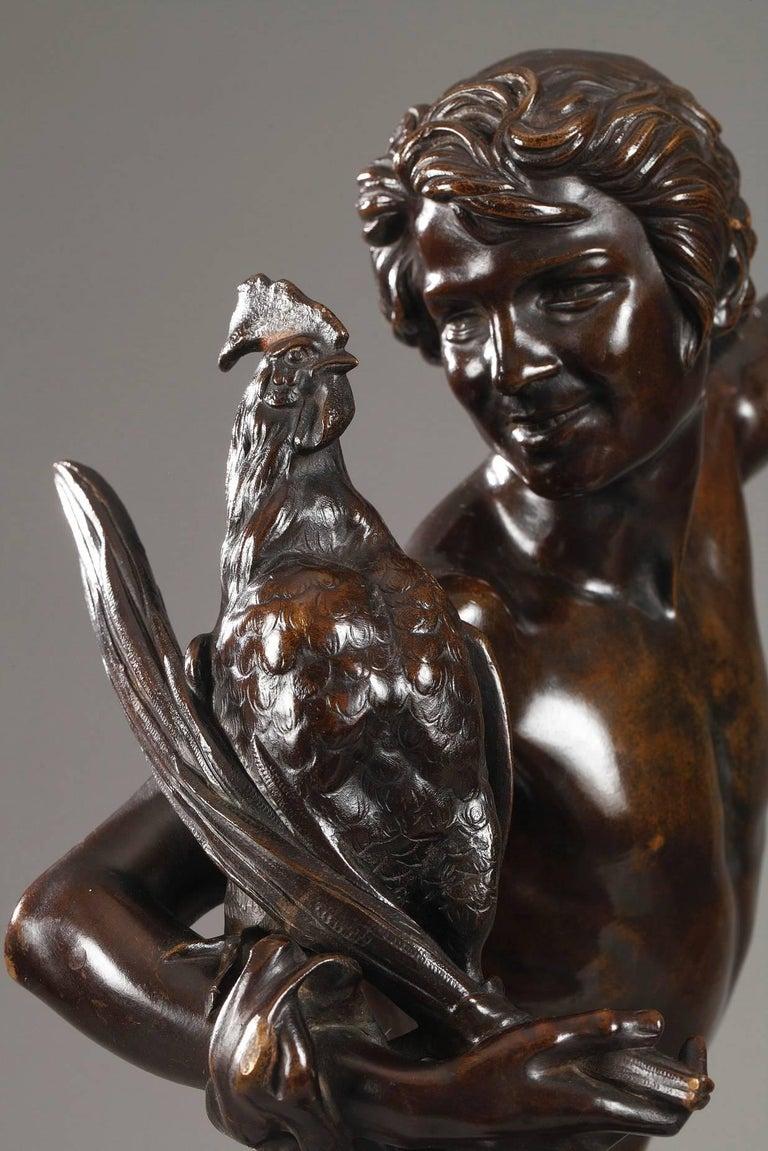 Le vainqueur du combat de coqs by Alexandre Falguière In Good Condition For Sale In Paris, FR