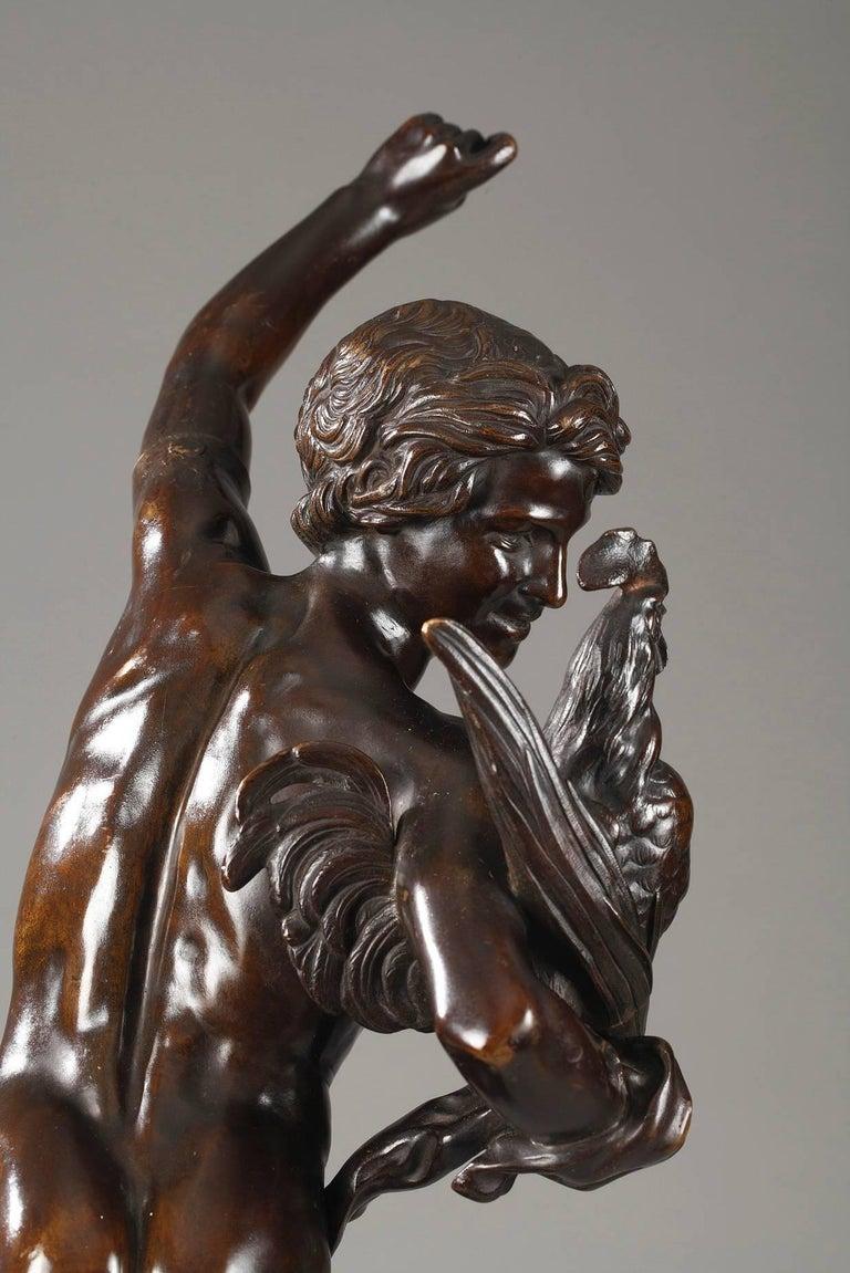 19th Century Le vainqueur du combat de coqs by Alexandre Falguière For Sale