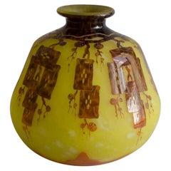 Le Verre Francais Art Deco Vase