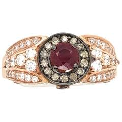 Le Vian 1/2 Carat Ruby Rose Gold Bridal Ring
