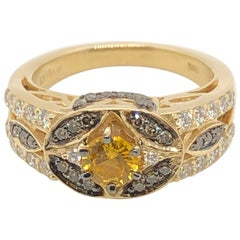 Le Vian 1/2 Carat Yellow Sapphire Yellow Gold Ring