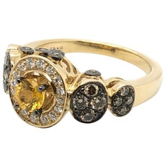 Le Vian 1 Carat Chocolate Diamond Yellow Sapphire Yellow Gold Ring