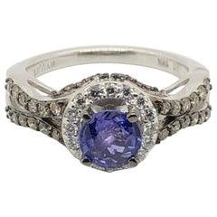 Le Vian 1 Carat Purple Sapphire White Gold Bridal Ring