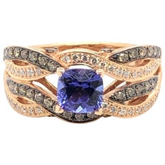 Le Vian 1.125 Carat Tanzanite Rose Gold Bridal Ring