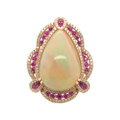 Le Vian 13 Carat Opal Rose Gold Couture Ring