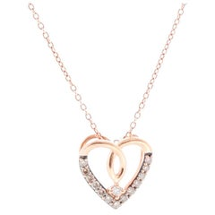 Le Vian 14 Karat Rose Gold Heart Diamond Necklace