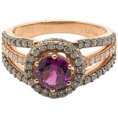 Le Vian 1.75 Carat Chocolate Diamond Purple Garnet Rose Gold Ring