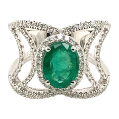 Le Vian 1.75 Carat Emerald White Diamond White Gold Ring