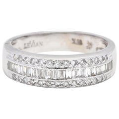 Le Vian 18 Karat White Gold and Diamond Band
